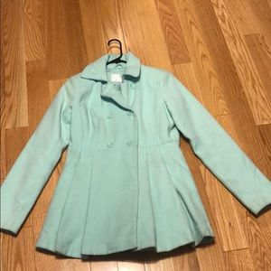 Mint pea coat size medium